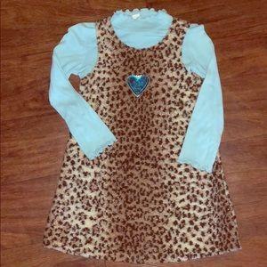 💙Girls cheetah print dress💙